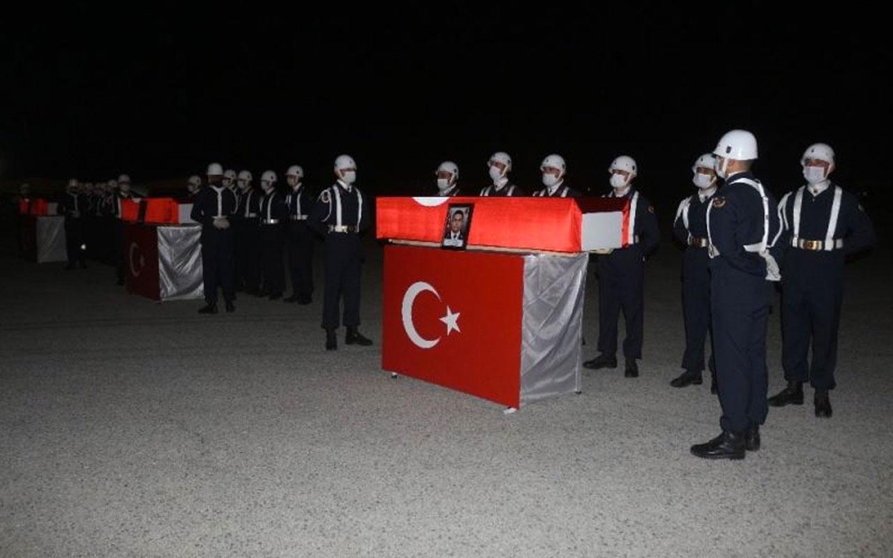 Van'da şehit düşen 3 kahraman askerimiz için tören düzenlendi