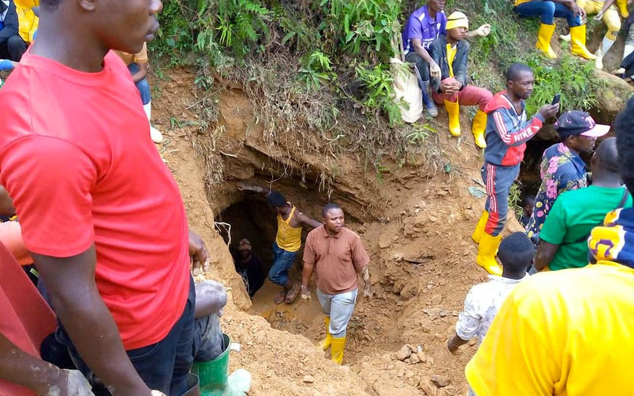 Kongo'da madende meydana gelen göçükte en 50 ölü var