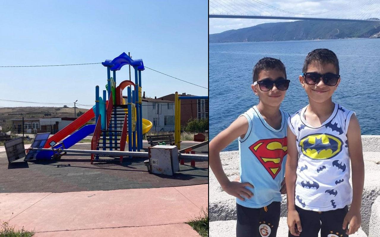 İstanbul'da parkta üzerine aydınlatma direği düşen çocuk öldü