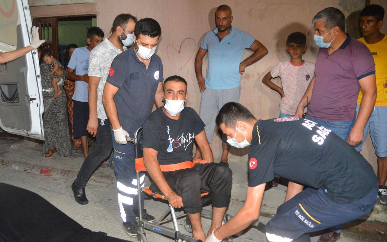 Adana'da ağabeyini bıçakladı çatıdan düşüp yaralandı