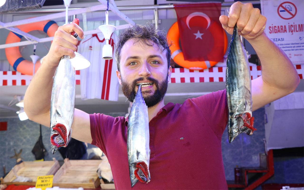 Samsun'da 600 gramlık palamut 10 TL'den satılıyor