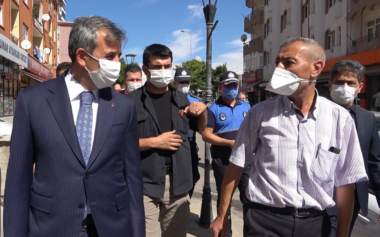 Korona denetiminde vali 'maske' dedi vatandaş üzümün fiyatından şikayetçi oldu
