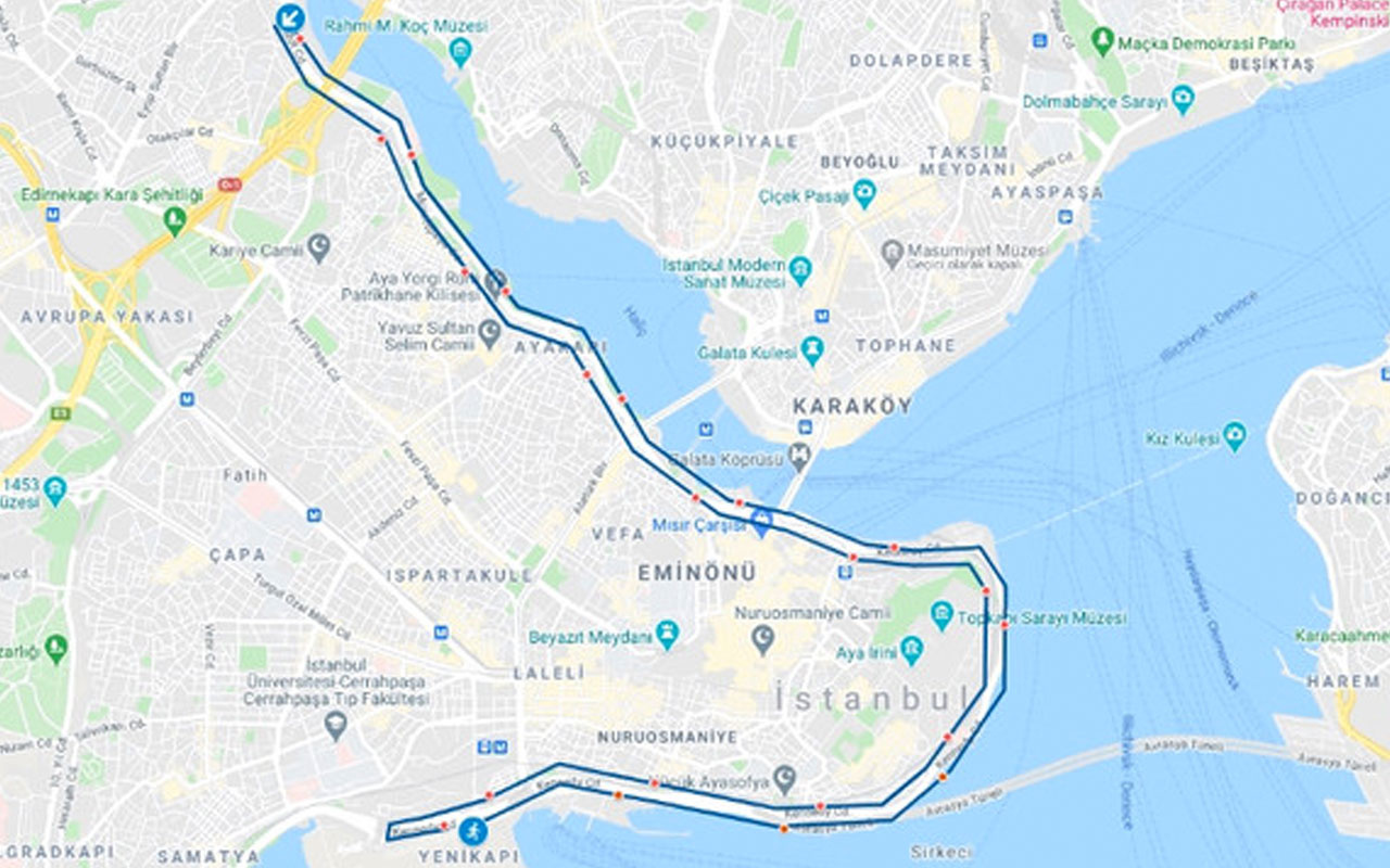 Pazar günü İstanbul'da bu yollar trafiğe kapatılacak