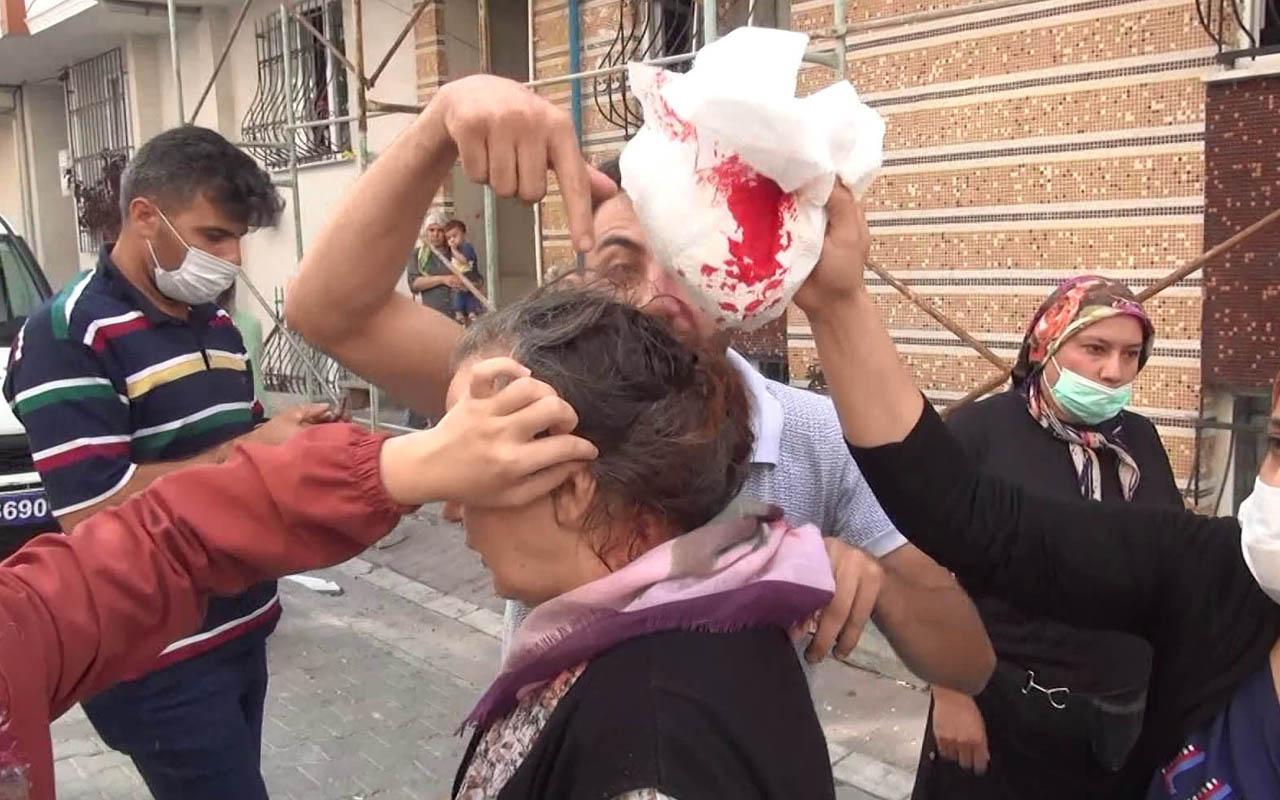 Esenyurt'ta taşlar havada uçuştu zabıta ile seyyar satıcı arasındaki kavgada 7 yaralı