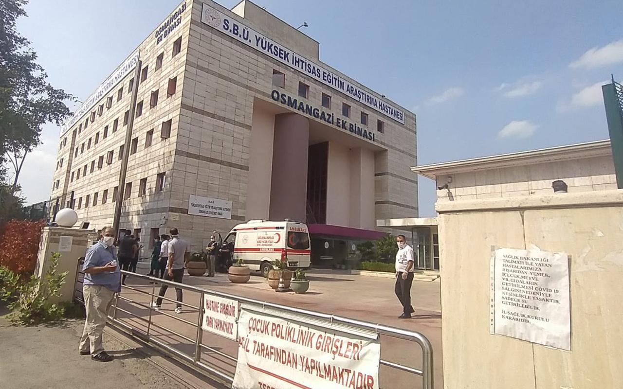 Bursa'da koronavirüs testi pozitif çıkan kadın 4'üncü kattan atladı
