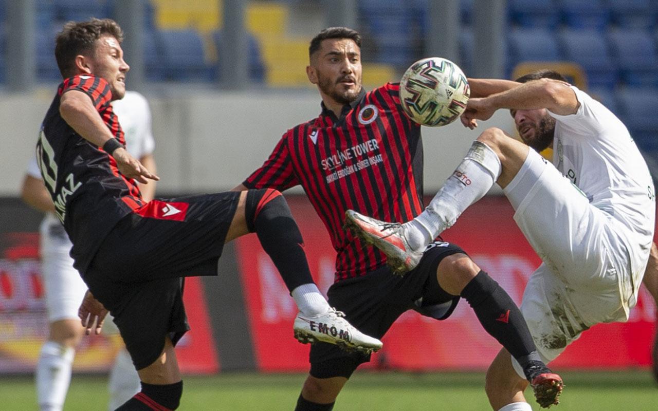 Gençlerbirliği-İttifak Holding Konyaspor maçı başladığı gibi gitti