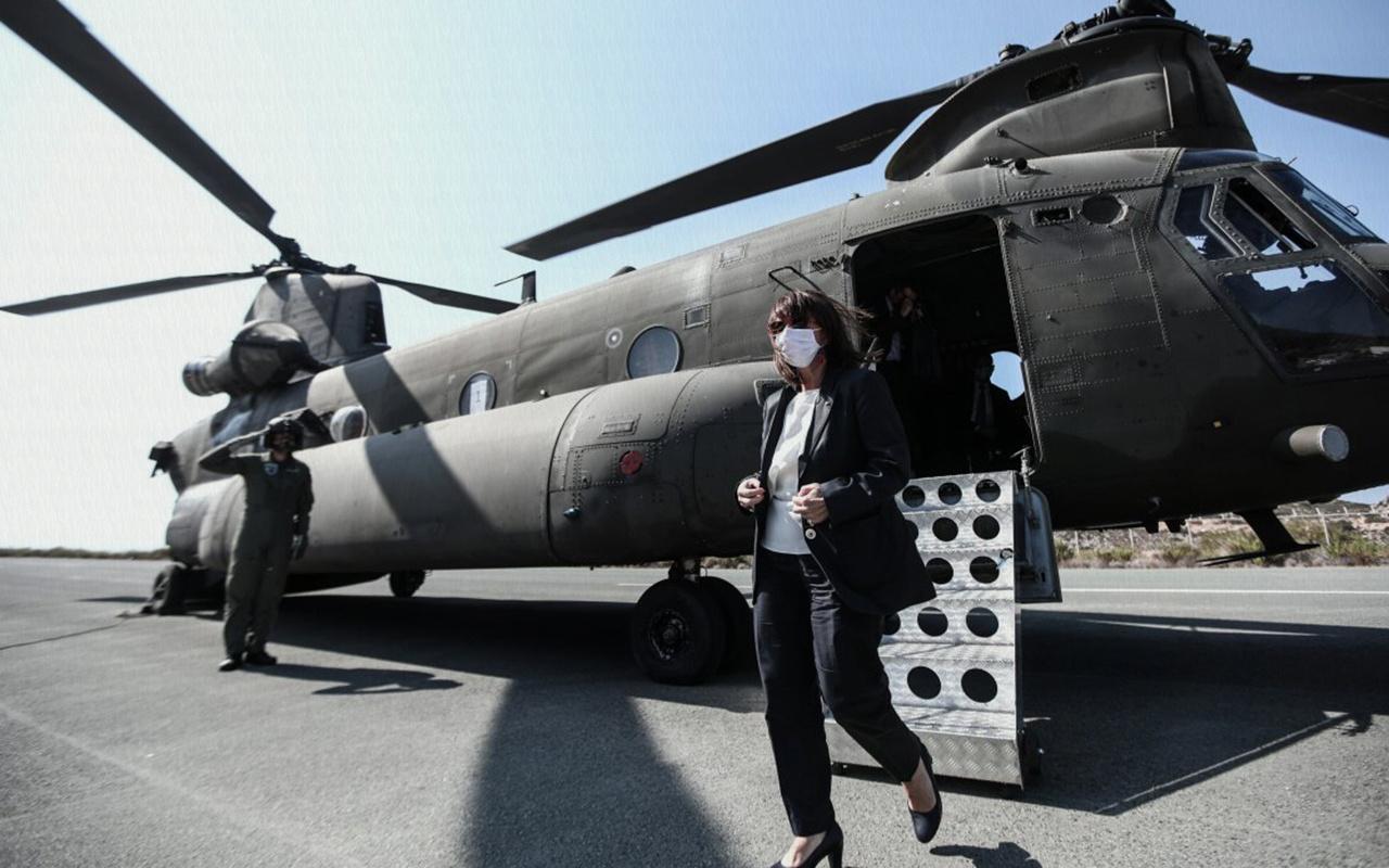 Yunan Cumhurbaşkanı, Güney Kıbrıs ziyareti öncesi Türkiye'yi hedef aldı