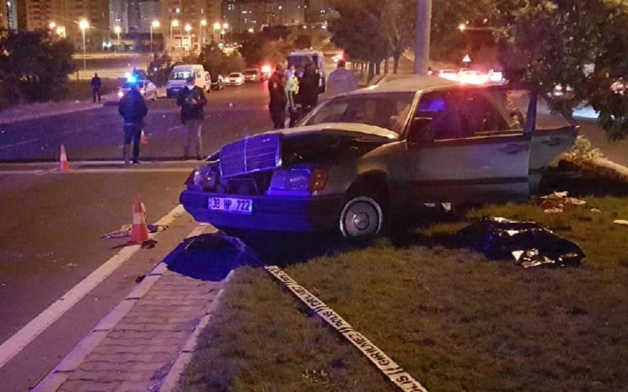 Kayseri'de 2 otomobilin çarpıştığı kazada ölüm geldi