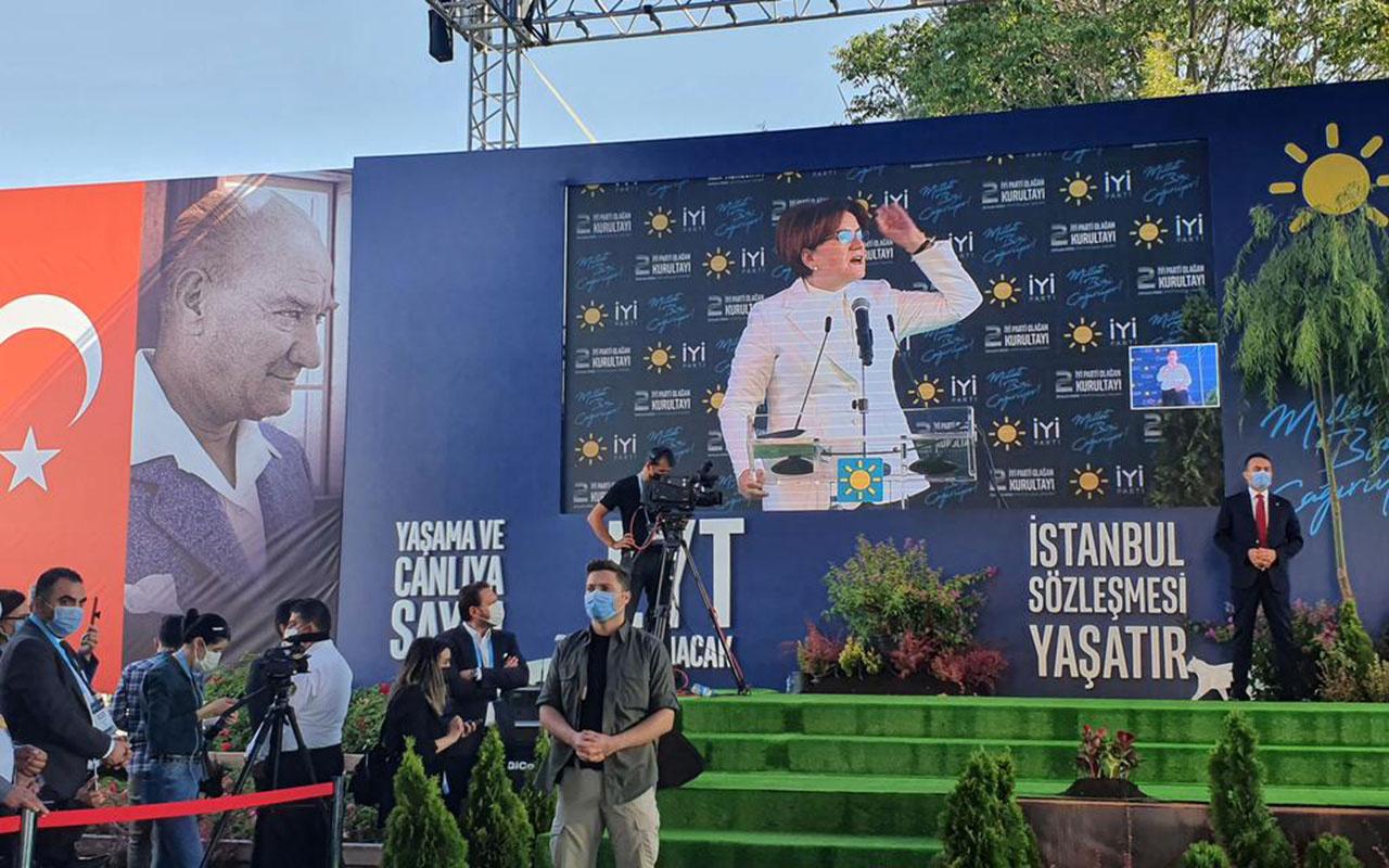 İYİ Parti'de kurultay heyecanı! Akşener tek aday olarak girdi ve tekrar genel başkan seçildi