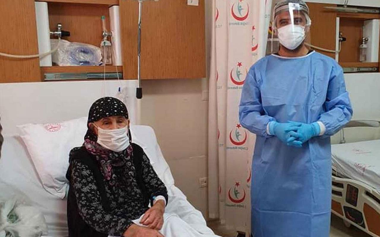 Adıyaman'da 104 yaşındaki Beyaz nine koronavirüsü yendi