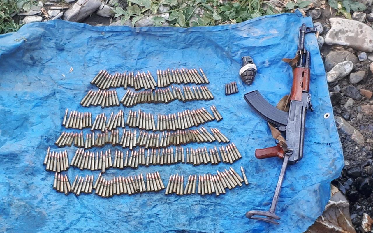 Van'da PKK'lı teröristlere ait silah ve mühimmat ele geçti