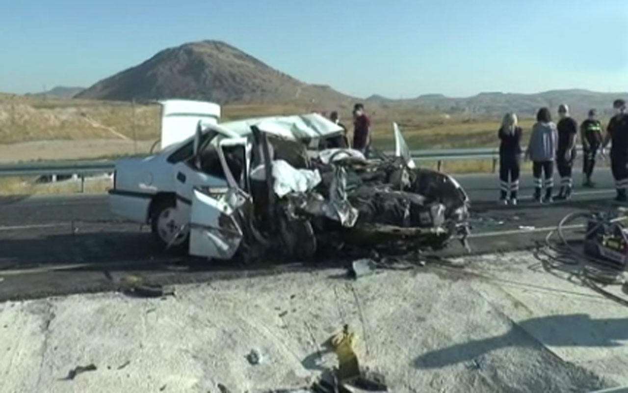 Nevşehir'de feci kaza: 2 ölü