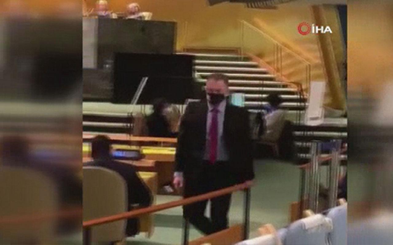 Erdoğan BM'de konuşurken İsrail büyükelçisi böyle kaçtı
