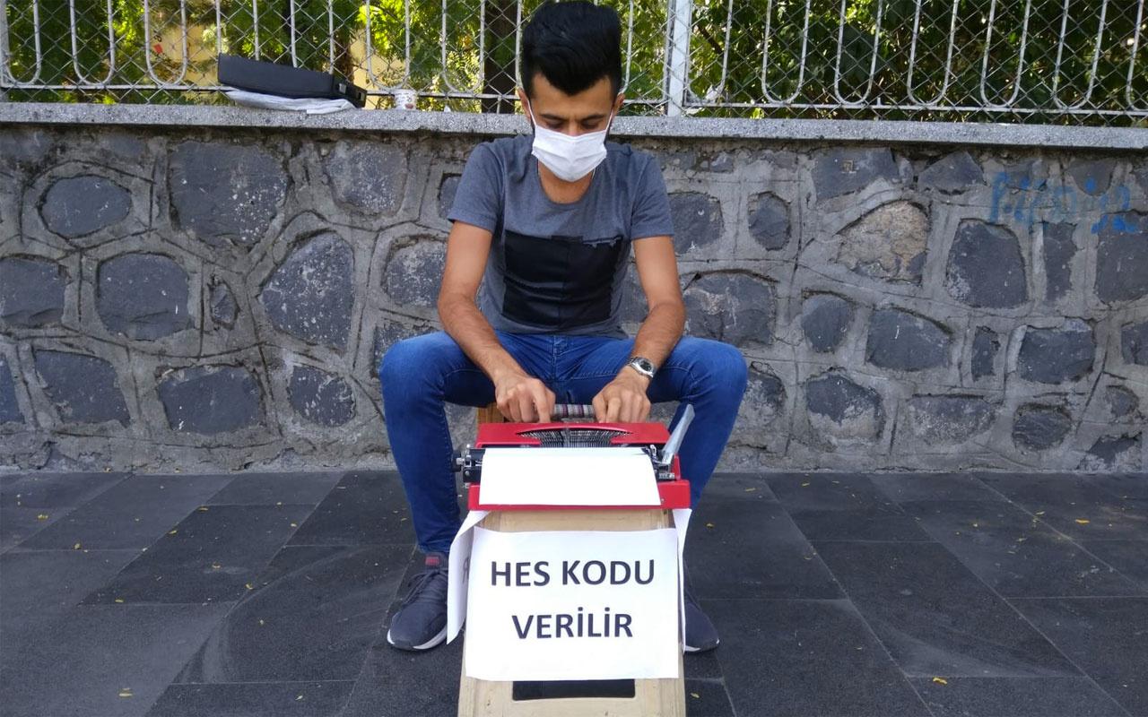 Diyarbakır'da arzuhalcinin yeni işi 'HES kodu' oldu