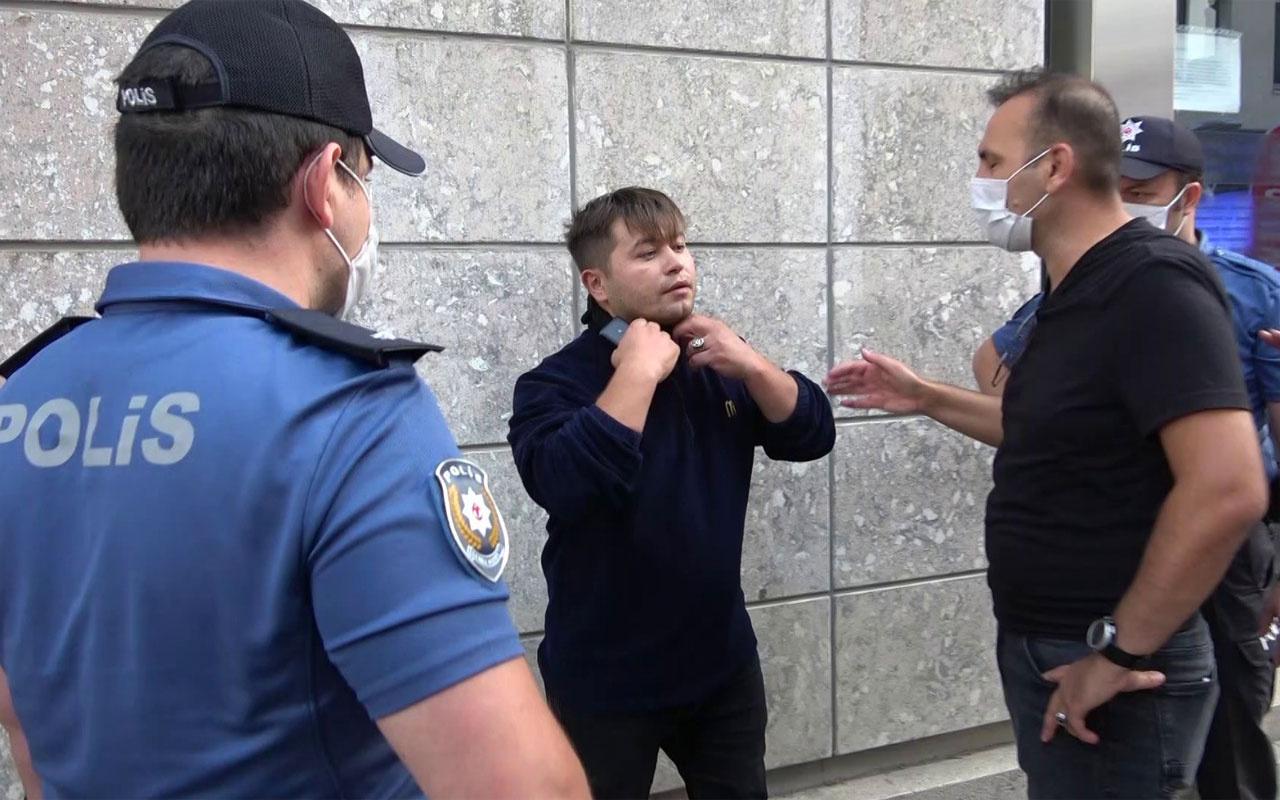 Tuzla'da maskesiz kişi polisi tehdit etti bana teşkilatın numarasını gönderin