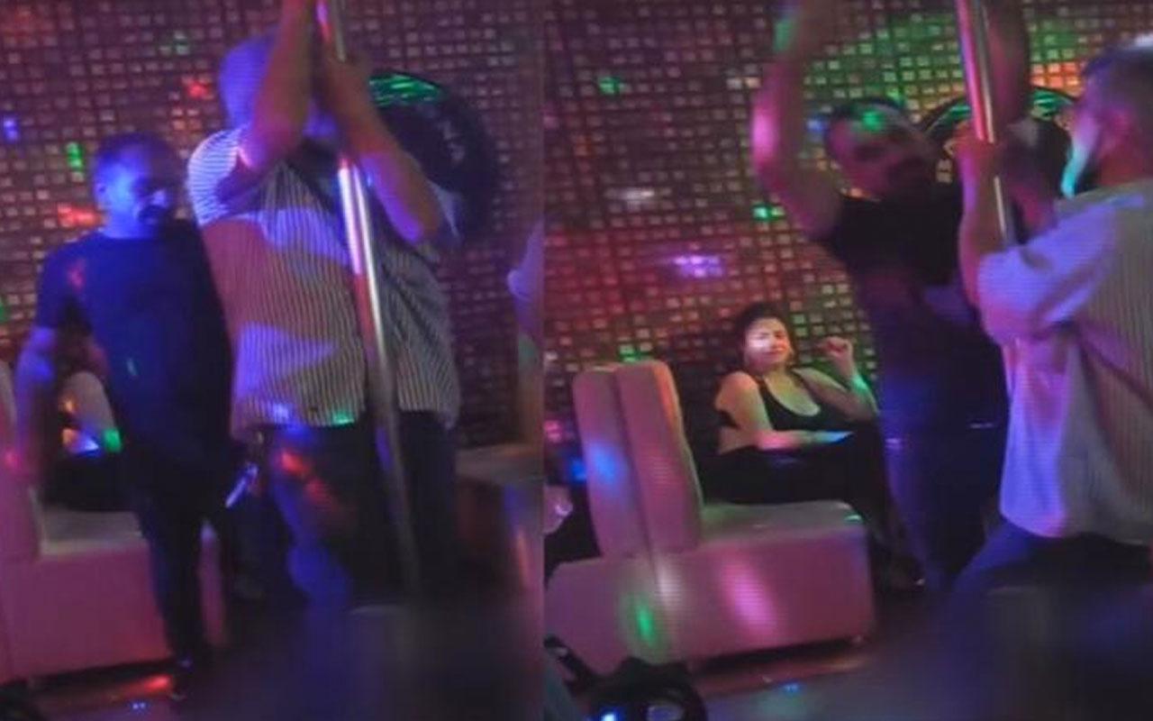 Ankara'da lokantayı pavyona çevirip terlikle direk dansı yaptlar