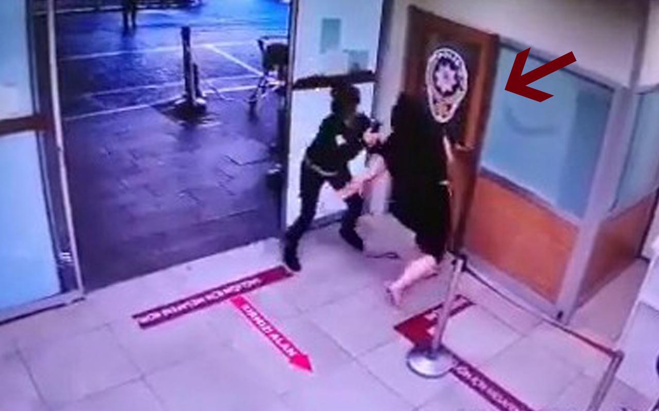 Pendik'te maske takmayan kadın hastanede terör estirdi copu aldı ve...