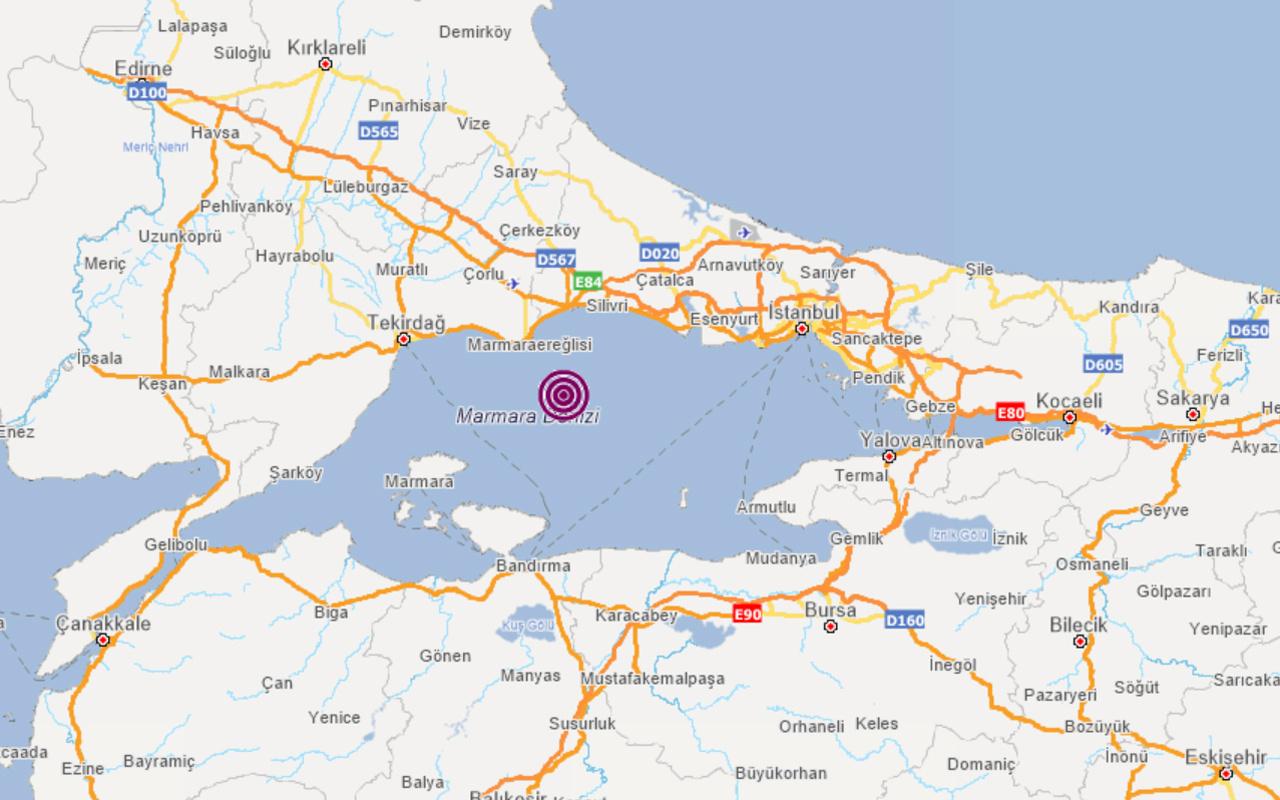 İstanbul'da deprem oldu büyüklüğü kaç? Kandilli ve AFAD'dan son dakika açıklaması