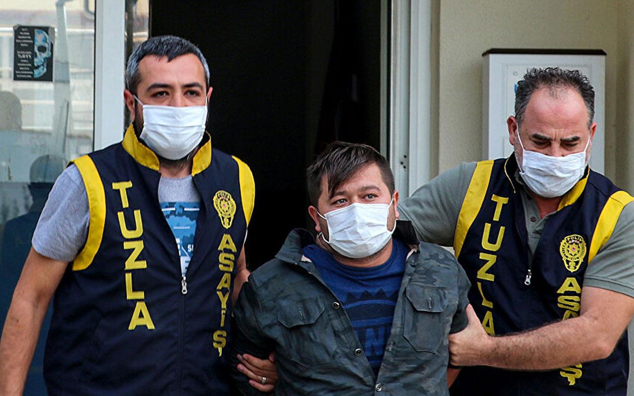 Tuzla'da polisleri tehdit ettiği için gözaltına alınan zanlı adliyeye sevk edildi: 'Görüşeceğiz'