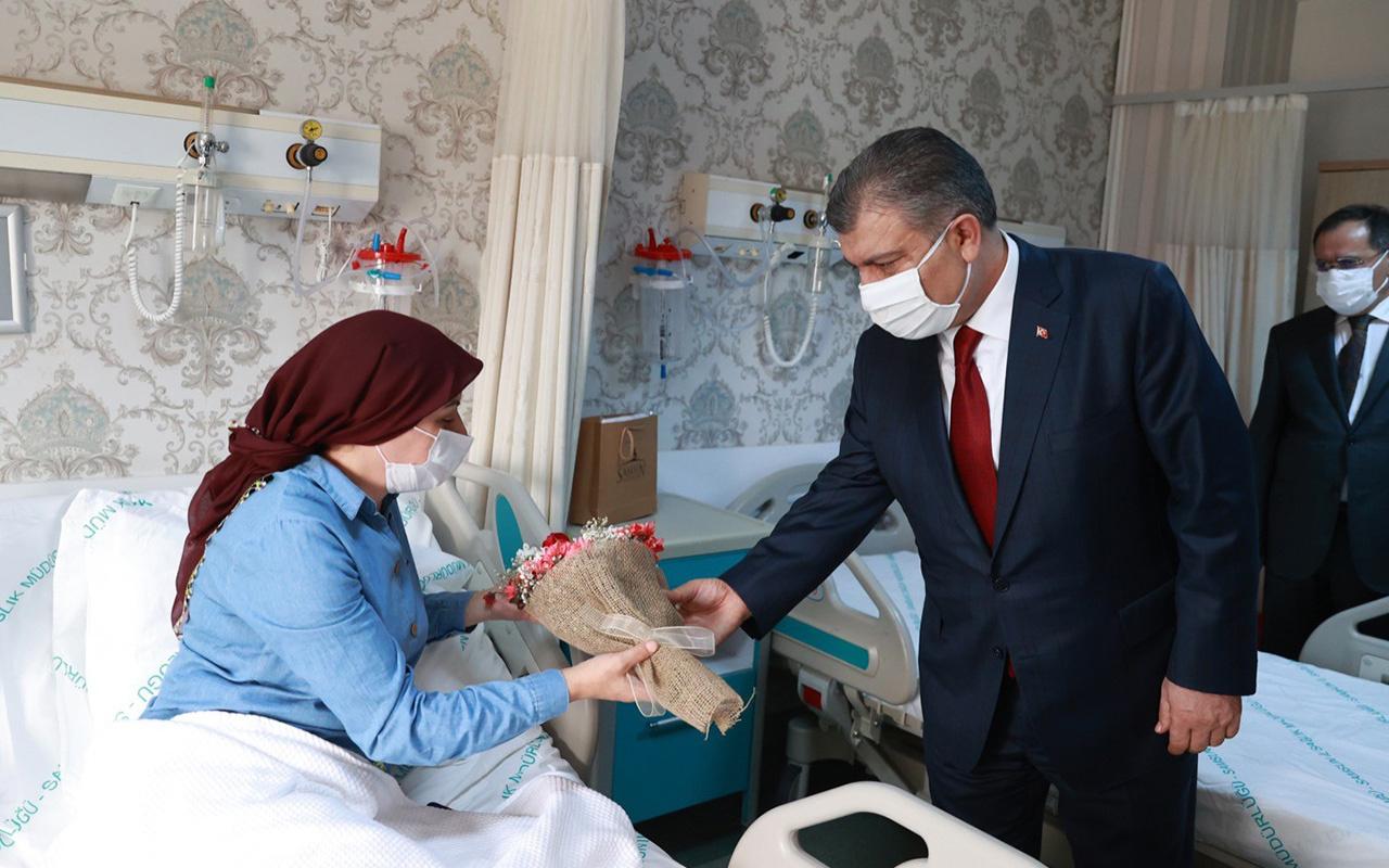 Sağlık Bakanı Fahrettin Koca'dan Samsun'daki hastalara 'geçmiş olsun' ziyareti