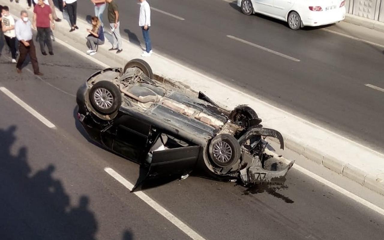 Kahramanmaraş'ta feci kaza! Herkesin gözleri önünde oldu