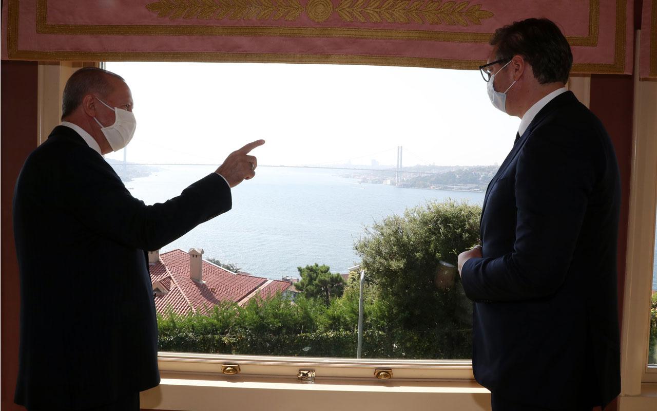 CumhurbaşkanıErdoğan Sırbistan Cumhurbaşkanı Aleksandar Vucic'i kabul ettİ