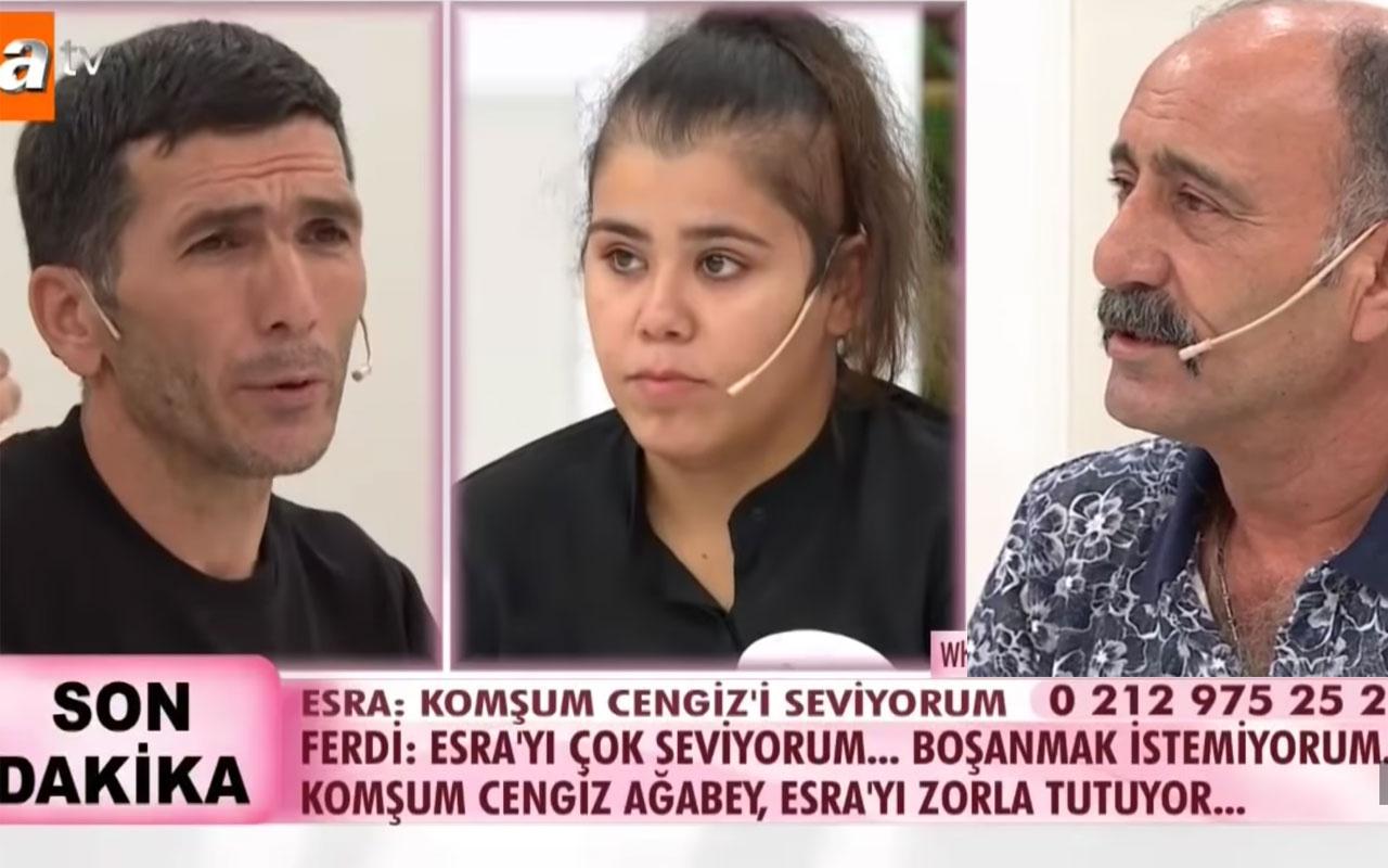 Esra Erol DNA testi sonuçlarını açıkladı Cengiz babası mı komşuyla ahlaksız ilişki
