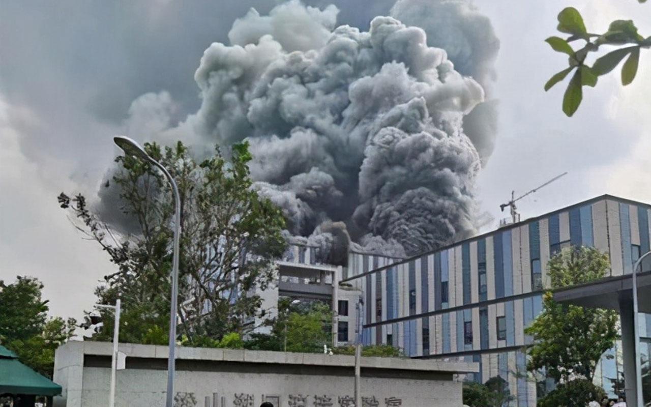 Çin'de Huawei laboratuvarında büyük yangın