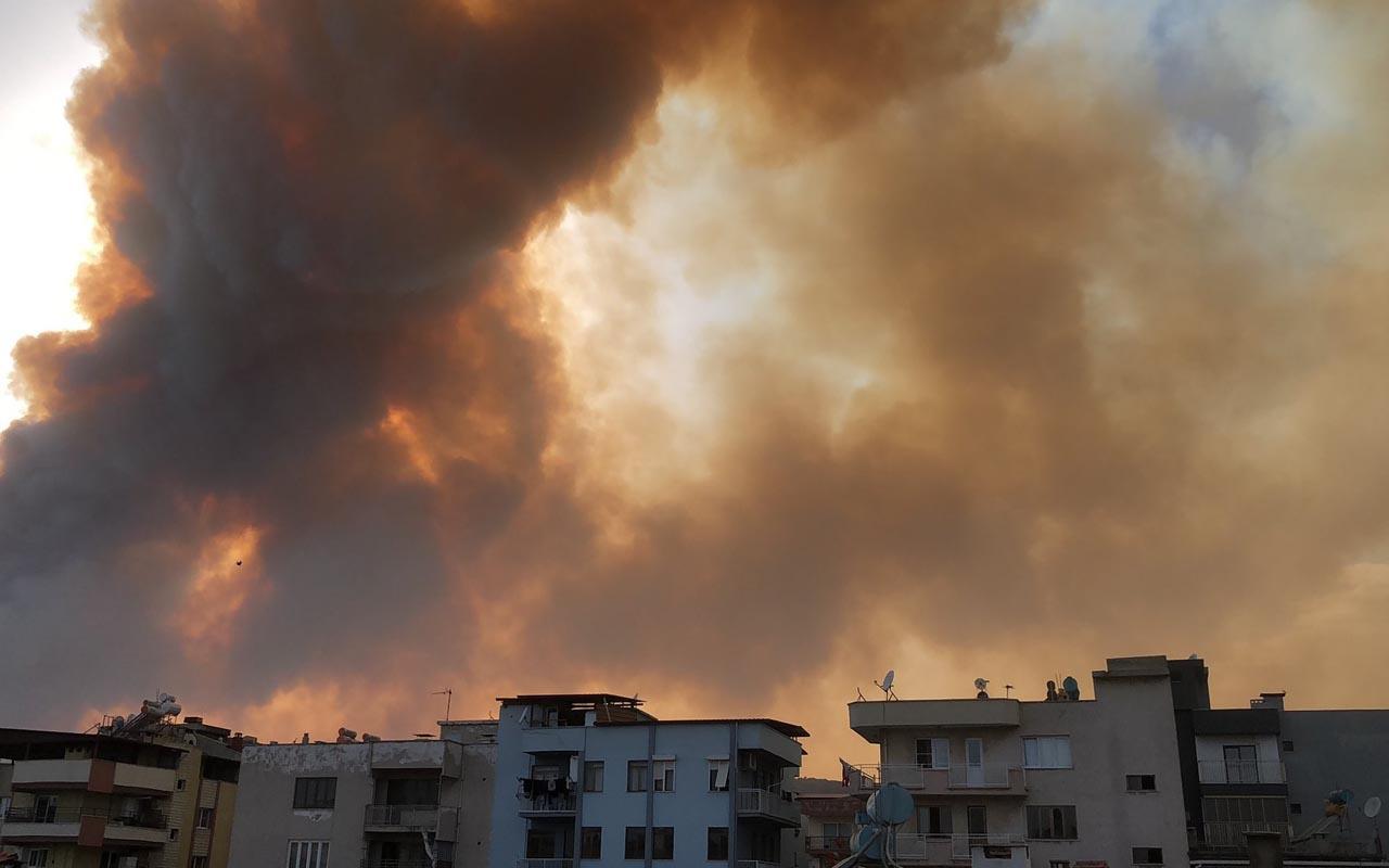 Aydın Söke alevlere teslim oldu! Korkutan yangında 50 hane boşaltıldı