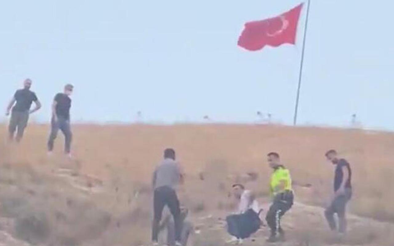 Şanlıurfa'da Türk bayrağını indirmeye çalışan şahıs tutuklandı