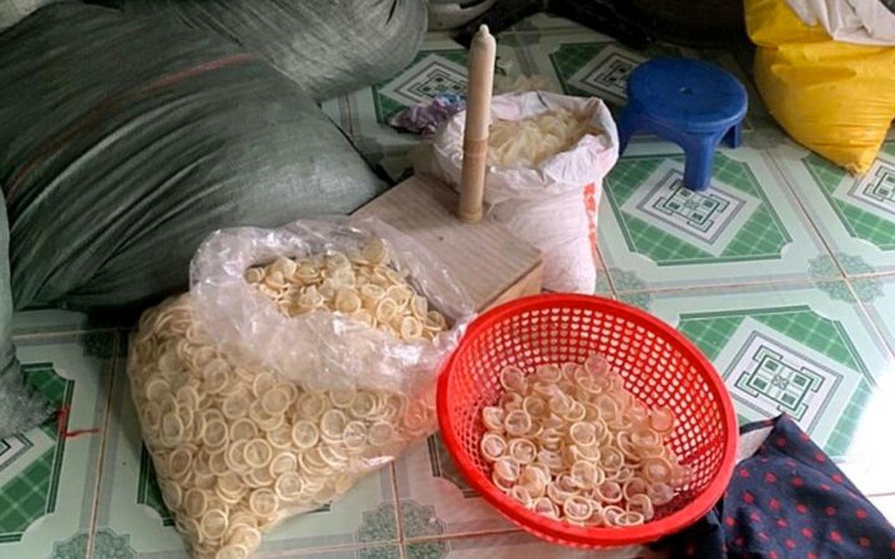 Vietnam'da yeni gibi satılmak üzere olan 320 bin kullanılmış prezervatif ele geçirildi