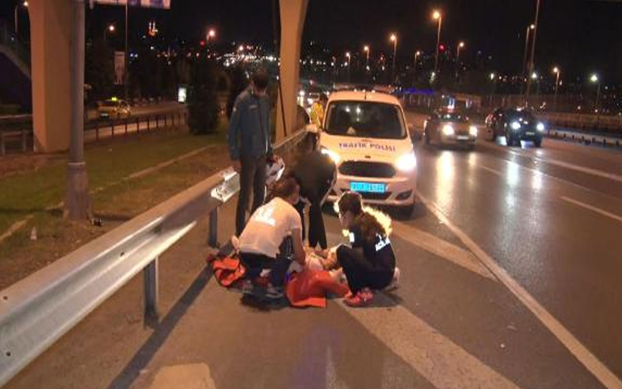 D-100 Karayolu'nda baygın halde bulunan kadın hastaneye kaldırıldı