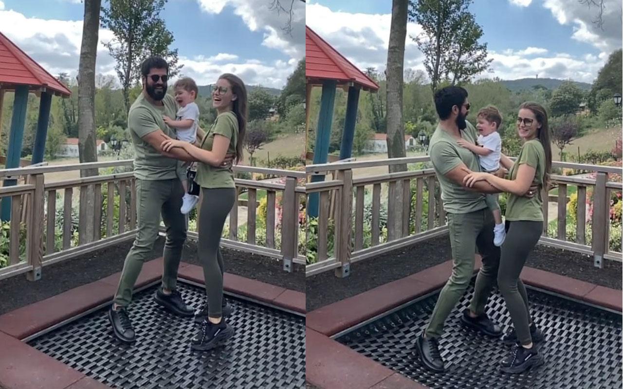 Burak Özçivit eşi ve oğluyla ev halini paylaştı! Dikkat çeken detay