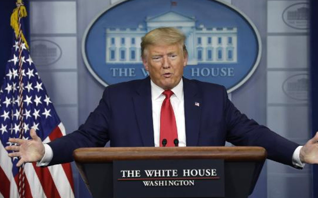 ABD Başkanı Trump canlı yayında öksürük krizine girdi