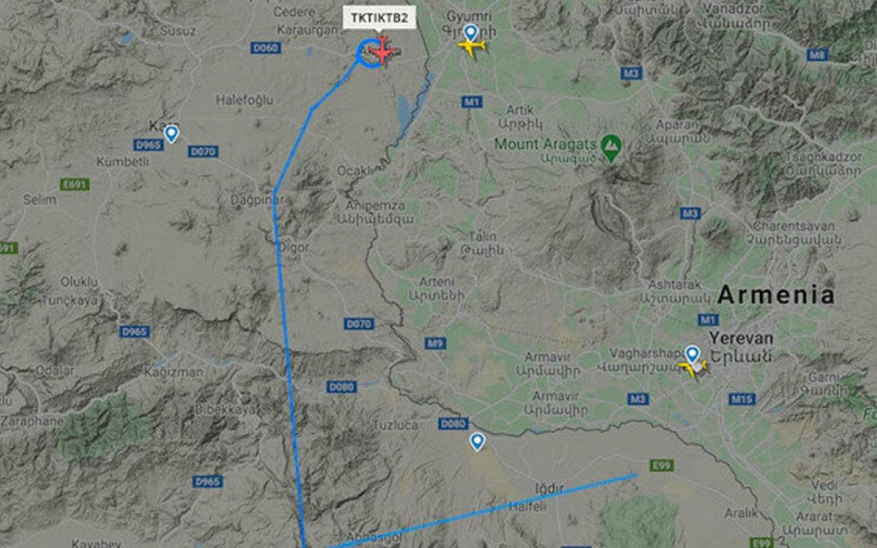 Türk SİHA'ları Ermenistan sınırında havalandı