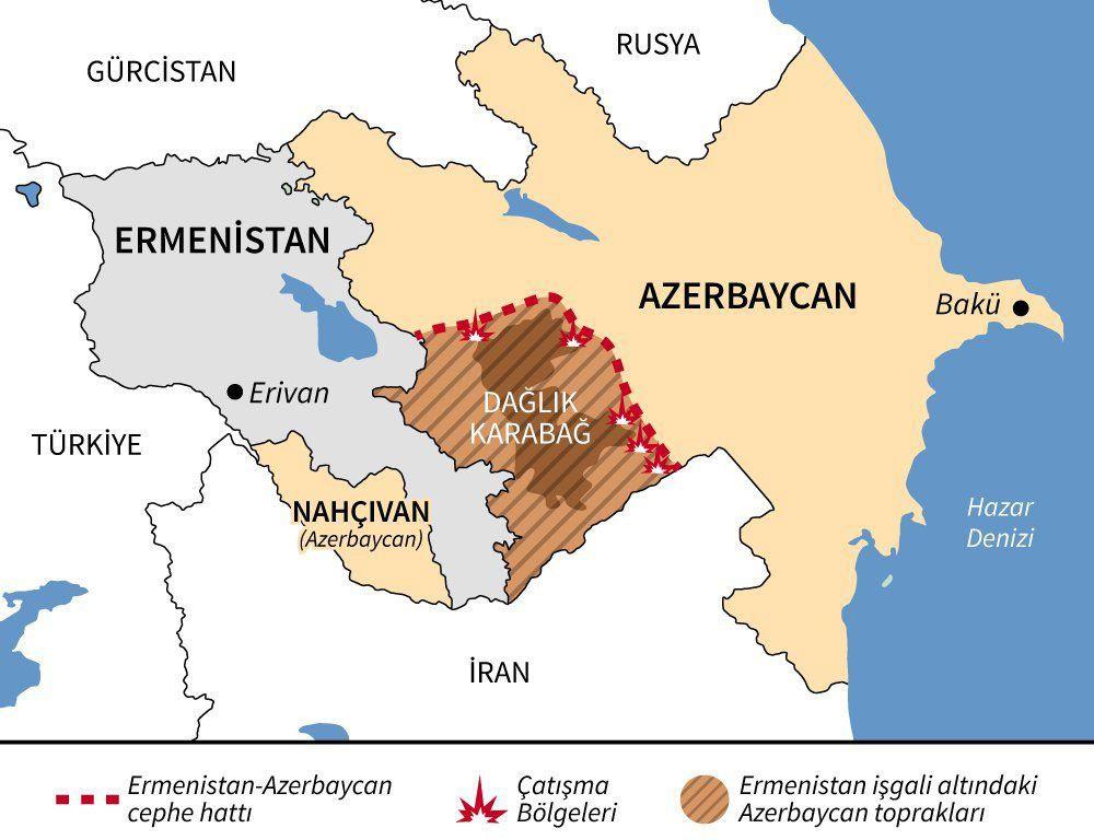 Azerbaycan Ermenistan savaşında 3. gün! Ermenistan hezimet büyüdükçe saçmalıyor Türk F-16'sı...