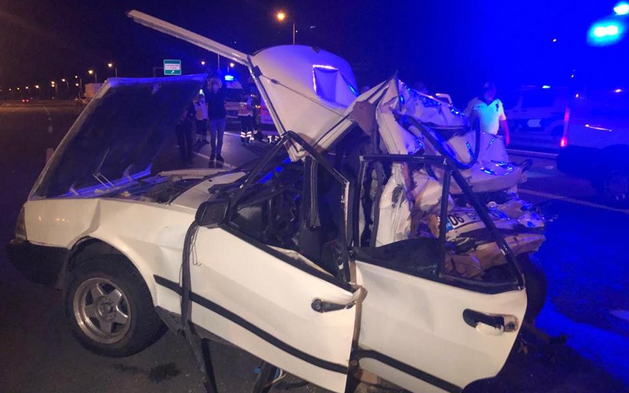 Ankara'da dehşete düşüren kaza 'farı yanmıyordu' iddiası