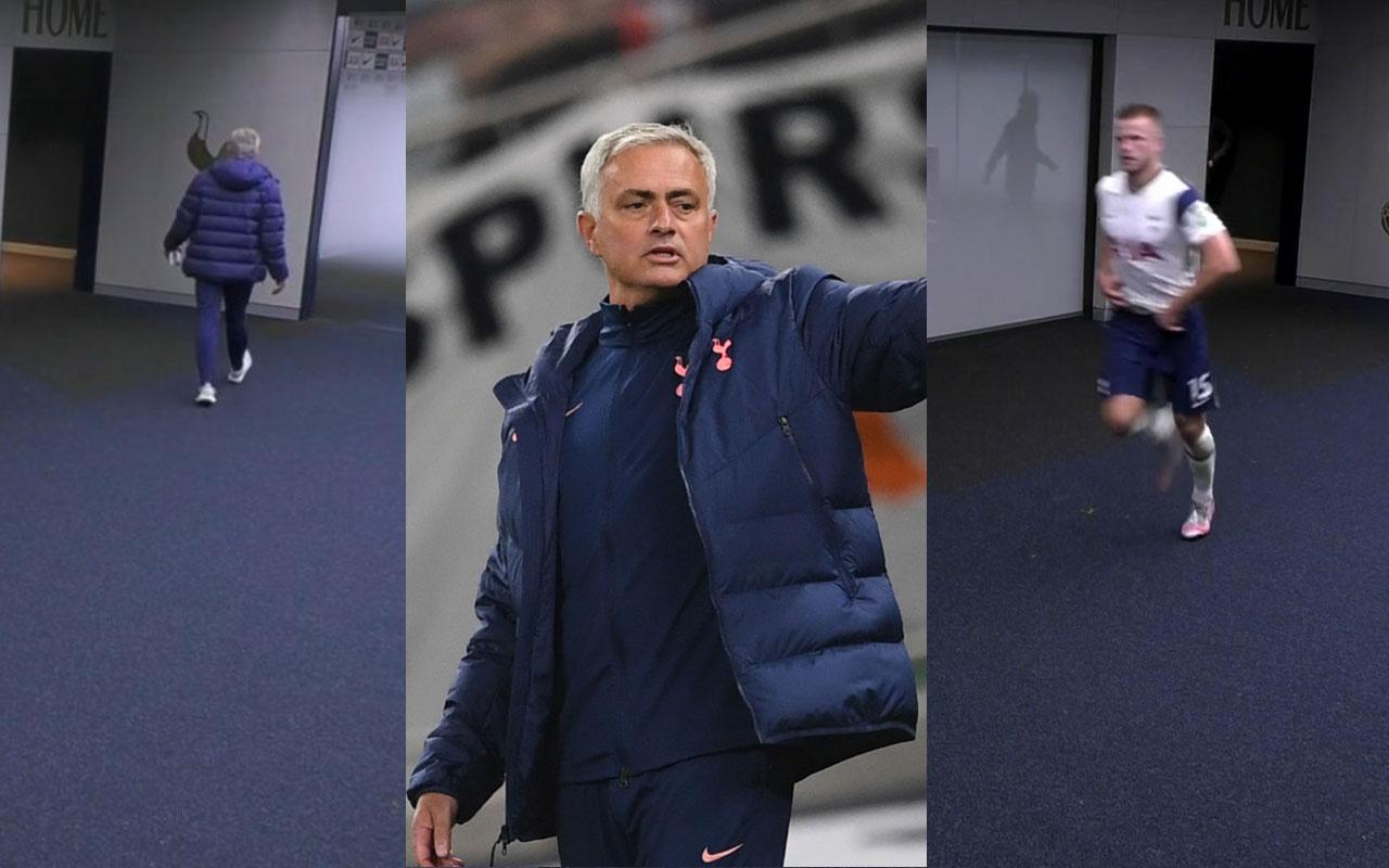 Eric Dier tuvalet molası verdi Mourinho arkasından koştu