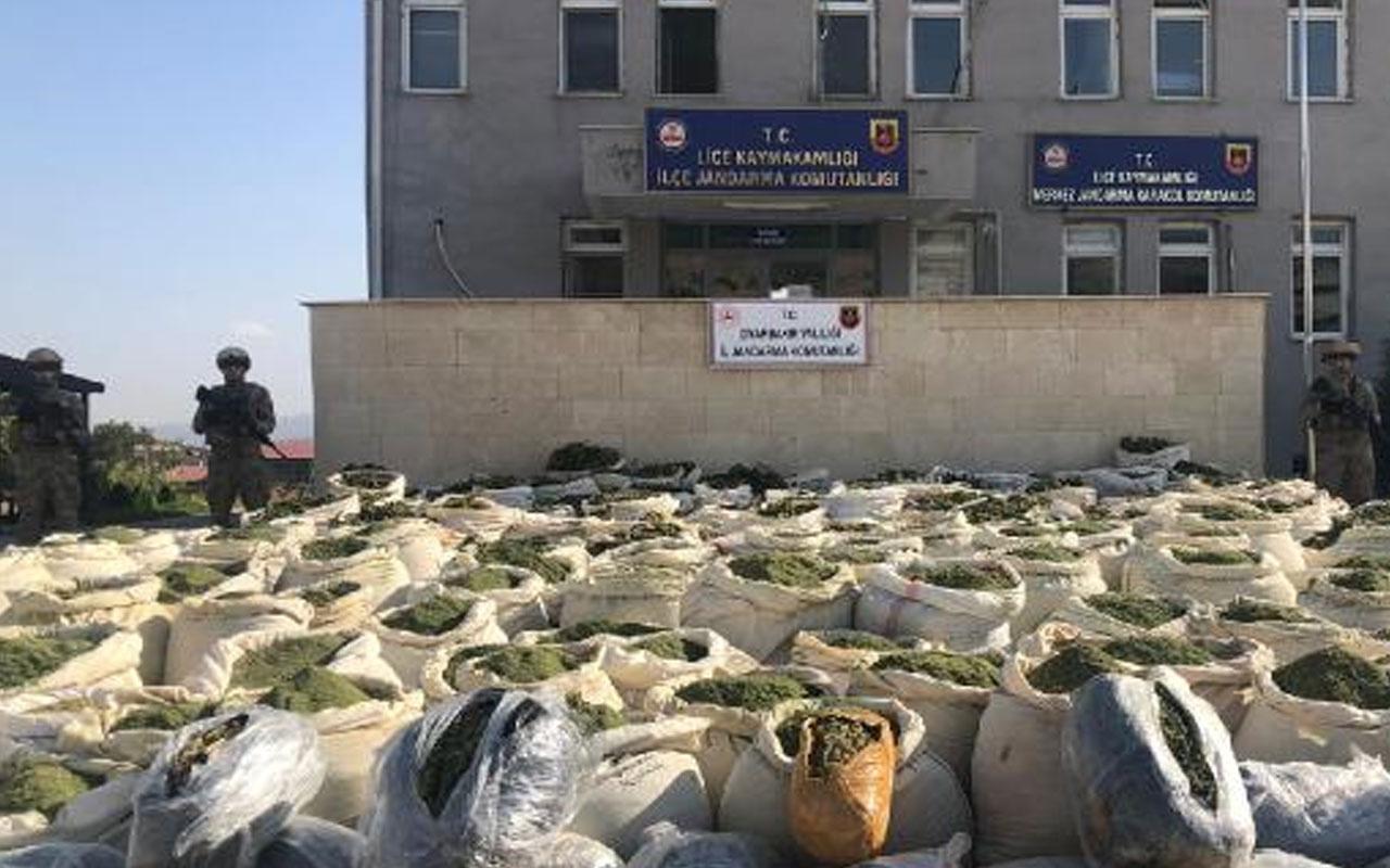 Diyarbakır'da narko-terör operasyonu: 4 ton esrar, 236 bin kök kenevir ele geçirildi