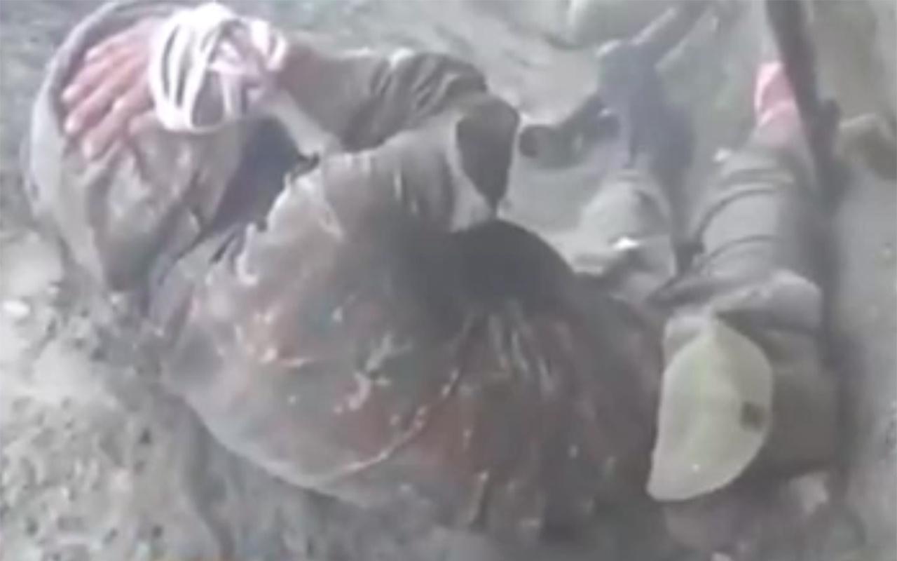 Ermeni askerinin ağladığı anlar kamerada