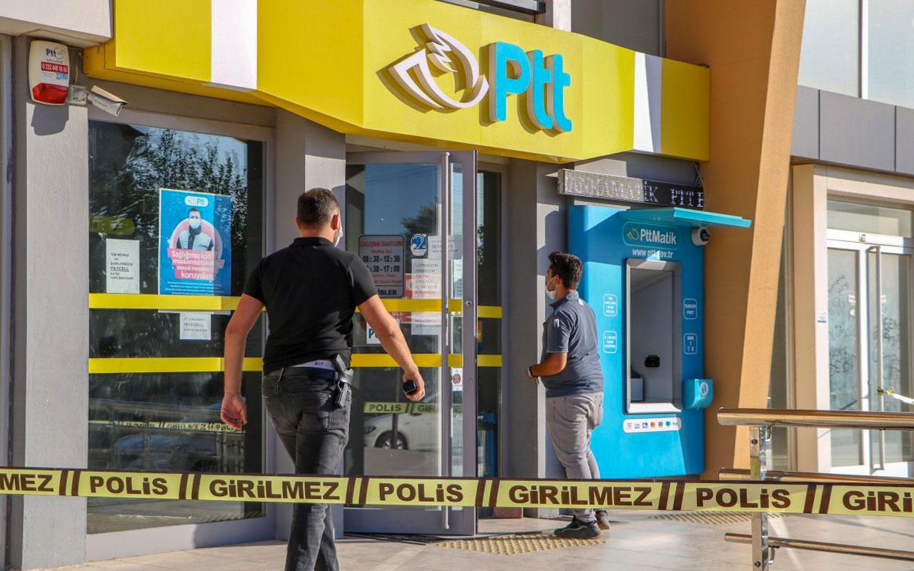 Antalya'da borcum var deyip PTT şubesini soydu