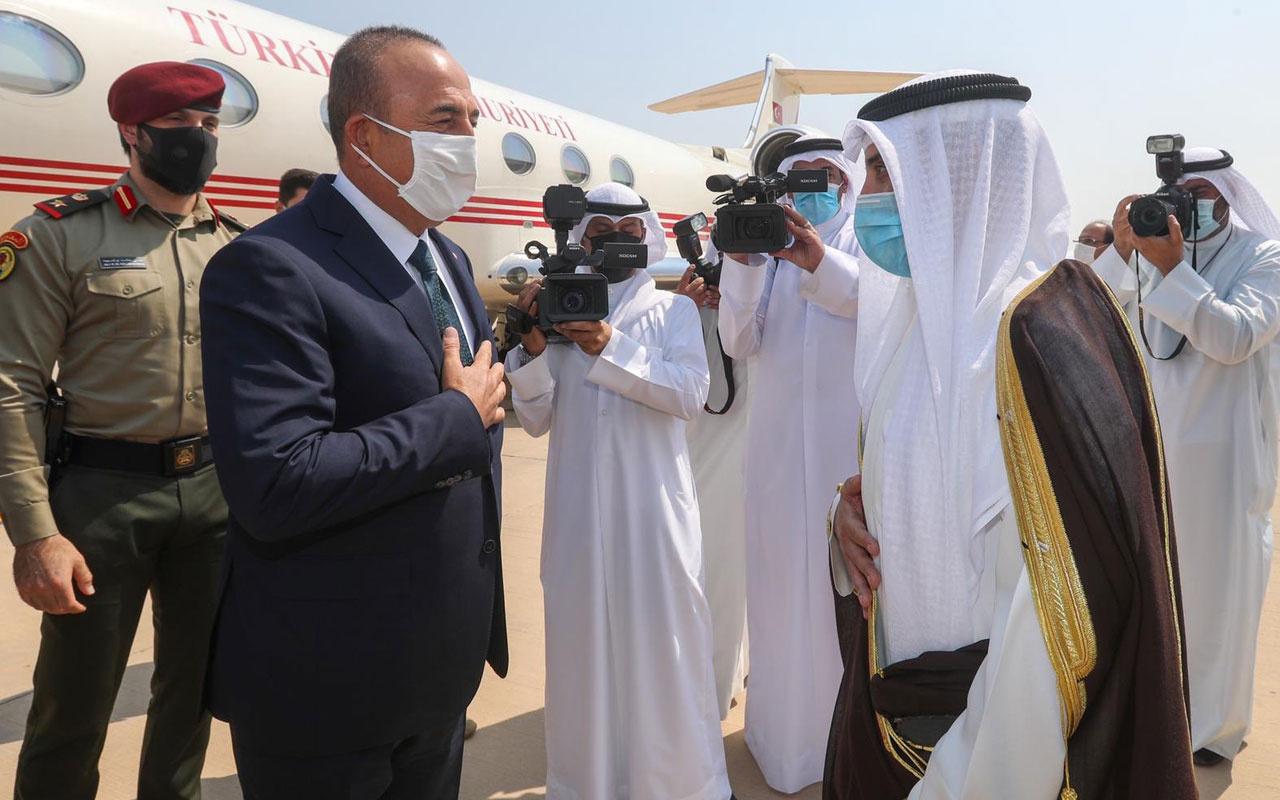 Dışişleri Bakanı Mevlüt Çavuşoğlu taziye ziyareti için Kuveyt'te