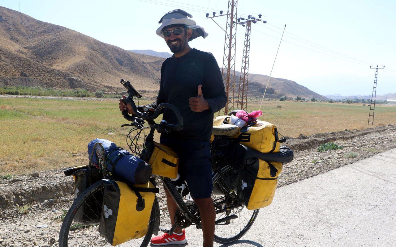 7 bin kilometreyi pedalla aştı Türkiye gezisi yarım kaldı İranlı bisiklet gezginini korona vurdu
