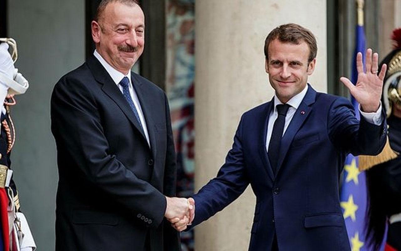 Aliyev ve Macron'dan kritik görüşme! Karabağ'daki sert çatışmalar
