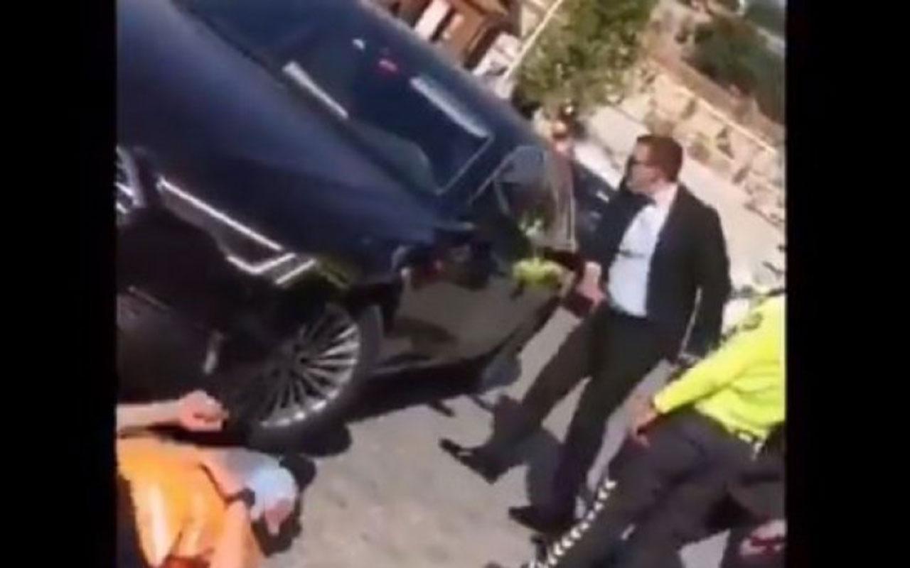 MHP'li Erkan Haberal'ın şoförü Hacı Bayram Veli Camisi'nde güvenlik görevlisine çarptı