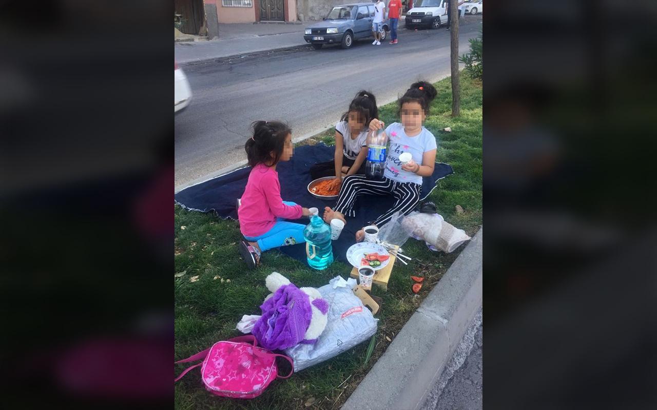Gaziantep'te çocukların sokak ortasında tehlikeli çiğ köfte keyfi