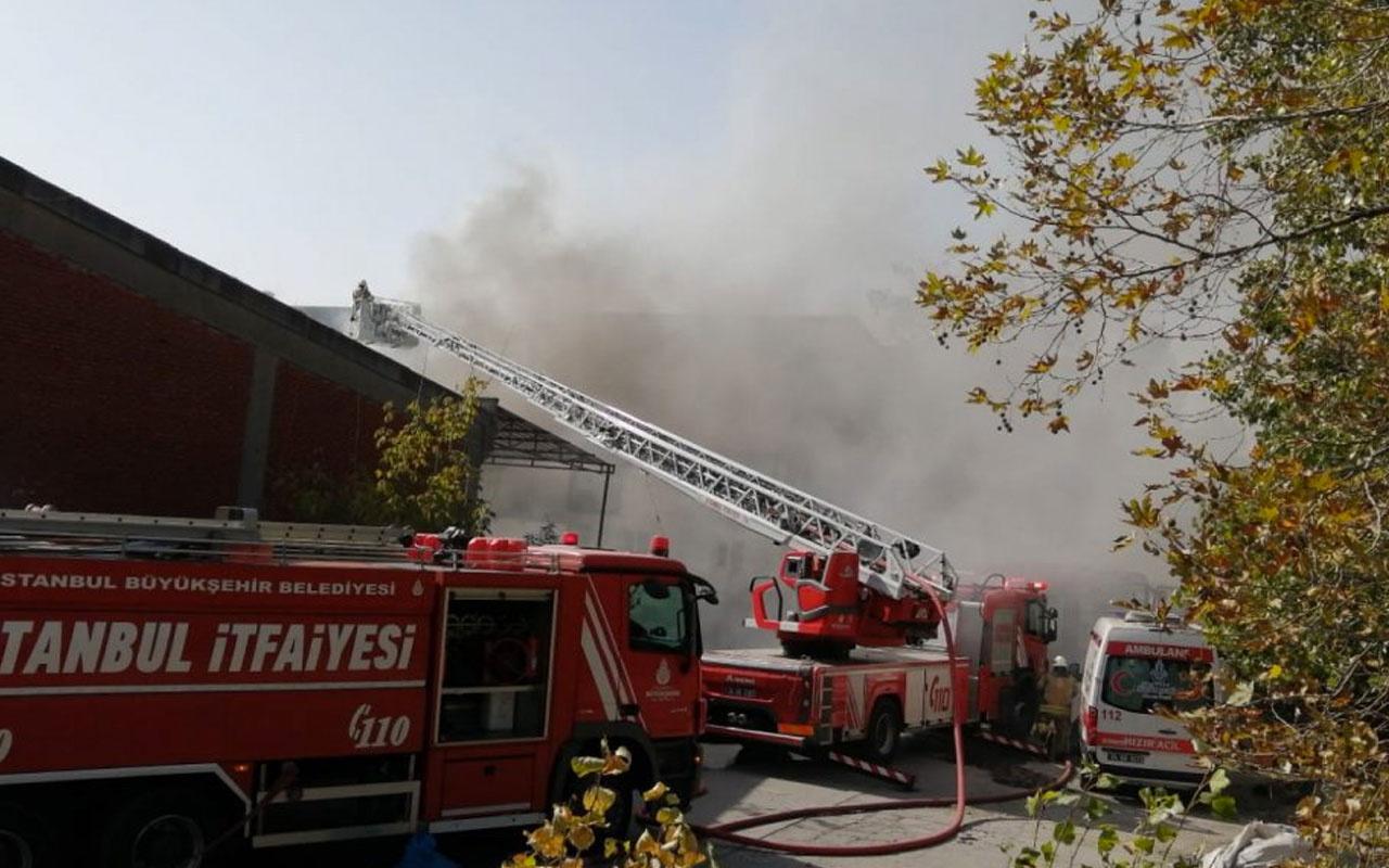 İstanbul'da, Atatürk Sanayi Sitesi'nde yangın