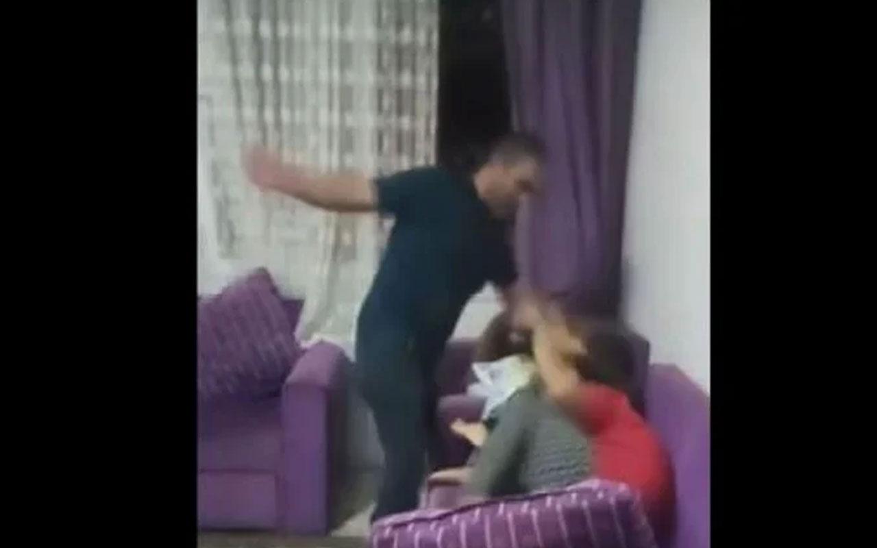 Cani baba gözaltına alındı! Mersin'de çocuklarına şiddeti canlı yayınladı