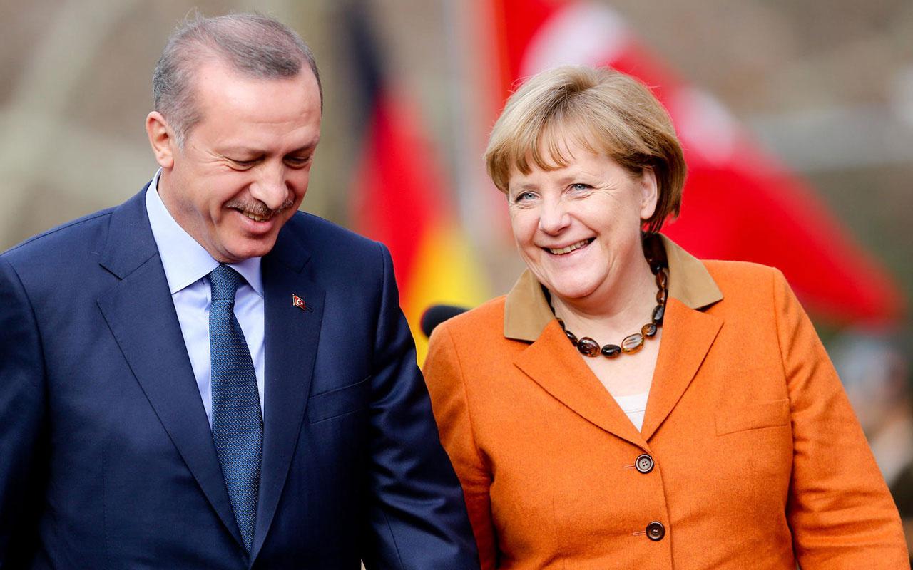 Cumhurbaşkanı Erdoğan ile Almanya Başbakanı Merkel görüştü gündem yoğun