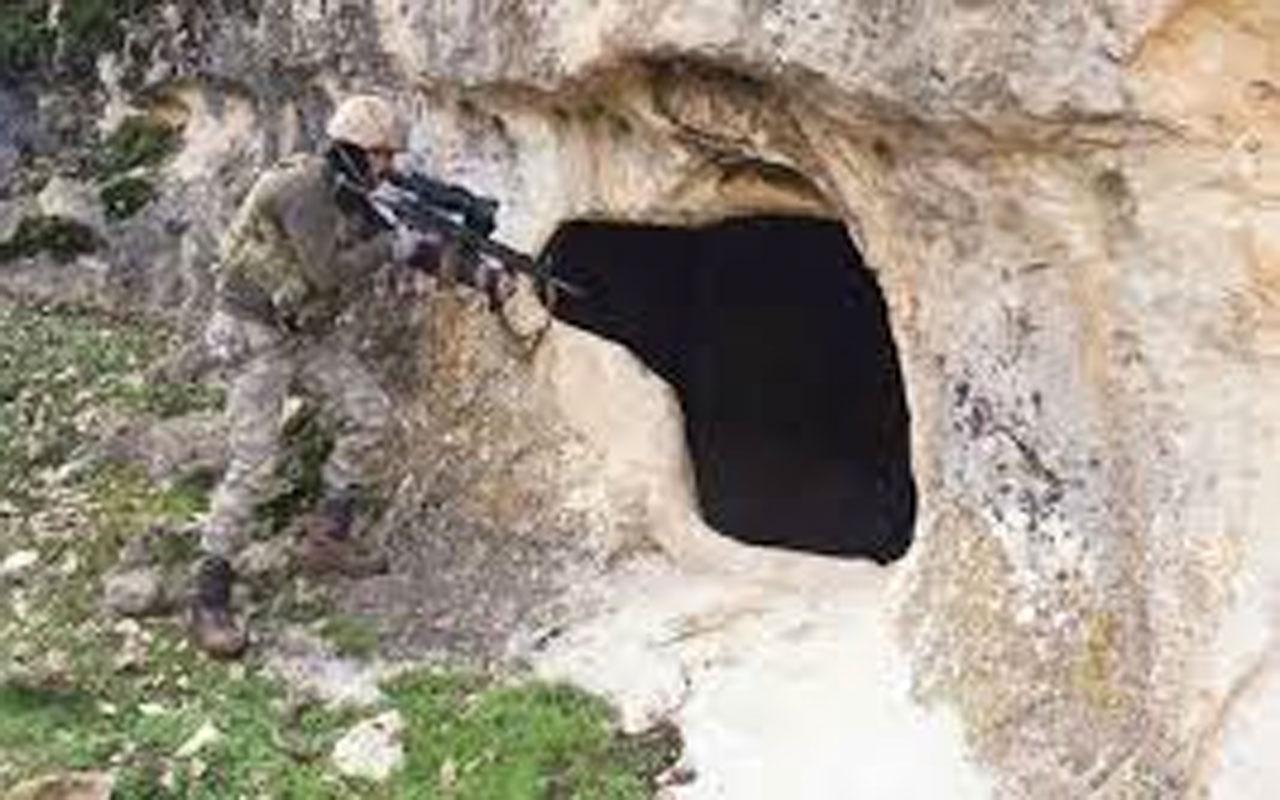 Hakkari Şemdinli hudut hattında PKK'ya ait bir mağara kullanılamaz hale getirildi